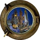 Huge 3D Porthole Nasa Space Launch View Wall Stickers Film Mural Art Wallpaper