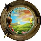 Huge 3D Porthole Enchanted Meadow View Wall Stickers Mural Art Decal Wallpaper