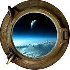 Huge 3D Porthole Above the Clouds View Wall Sticker Film Mural Art Decal Wallpap