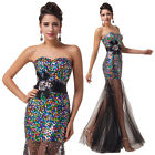 New Shiny Sequins Long Evening Party Prom Dress Mermaid Wedding Bridesmaid Dress