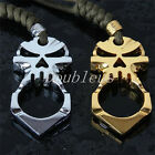 Alloy Skull Key Chain Self Defense Emergency Survival Tool Mini Outdoors Hammer