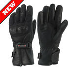 RAYVEN ARCTIC WATERPROOF LEATHER TEXTILE THERMAL MOTORCYCLE MOTORBIKE GLOVES