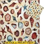 ROBERT KAUFMAN HIDDEN COVE SEA SHELLS COTTON FABRIC 1/2 YD (MAKE A SELECTION)
