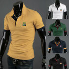 5 Color Luxury Casual Men Man Slim Fit Short Sleeve Polo Gym Shirt Tops T-Shirt