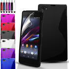Silicone Gel Case Cover Pouch For Sony Xperia Z1 Compact & Screen Protector