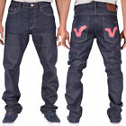 Voi Jeans SS14 Norton Swirl SW024 Mens New Raw Denim Blue Designer Branded Jeans