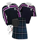 8yd Kilt Outfit 'Sports Essential' - Purple Stripe Rugby Top - Douglas