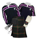 8yd Kilt Outfit 'Sports Premium' - Purple Stripe Rugby Top - Gunn