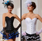 C11 lace steel boned corset top bustier Lingerie Waist Clincher UK Size 6-16