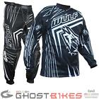 WULF SPORT WSX-4 ADULT OFF ROAD RACING MOTOCROSS ATV MX DIRT BIKE KIT BLACK