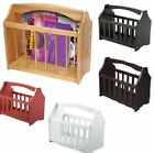 MAGAZINE RACK FREE STANDING WOODEN MAIL NEWSPAPER HOLDER STORAGE SHELF STAND