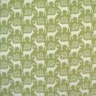 GREEN CREAM - MINI SCANDI REINDEER by MAKOWER 100% COTTON FABRIC CHRISTMAS