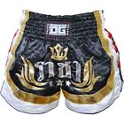 BLACK DUO RAJA MUAY THAI FIGHT SHORTS KICK BOXING TRUNKS MARTIAL ART FIGHT SHORT
