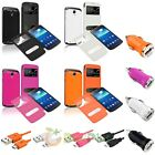 Leather Battery Cover+Charger+Cable For Samsung Galaxy S4 Active i9295