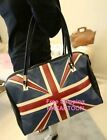 British Fashion British Flag PU Handbags Waterproof Shoulder Bag