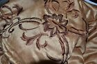 JCP Home MADRID EMBROIDERED BEDSPREAD QUEEN GOLD Retail $260