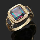 Size 8,9,10,11,12 Jewelry Mix Colour Sapphire 10KT Gold Filled Ring Wedding Gift