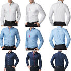 Hot Sale! Button-Front Special Design Stand Collar Mens Casual Dress Shirts Tops