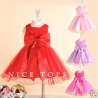R196 Reds Wedding Party Bridesmaid Flower Girls Dress AGE SIZE 2T-4-6T-8T-10-12T