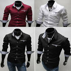 Premium Fashion Clothes Man Long Sleeves Unique design Mens Casual Tops Shirts 3