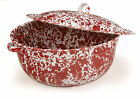 Crow Canyon Home Marbled Enamelware French Oven Covered Casserole Spatterware