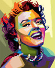 Marilyn Monroe Popart Colourful POSTER FRAMED ON CANVAS & MOUNTED
