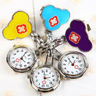 New Chic Red Cross Nurse Brooch Hanging Pocket SS Strap Watch With Clip Watches