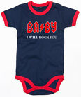 BABY I WILL ROCK YOU  Ringer Baby Body navy/red