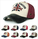 Mens Ladies Fashion UK United Kingdom Rivet Adjustable Hat Baseball Cap