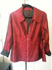 NWT Women's Fitted Jacket, Lightweight Zip Dark Red,100% Polyester Windbreaker