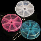 7 day grids round pill box tablet holder medicine dispenser Week organiser case