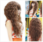 Sexy Girl long Curly Wavy Heat Resistant Hair Cosplay Costume 3 Color Full Wig