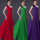 Pleated Sexy Womens Formal Party Bridesmaid Evening Ball Gown Long Prom Dresses
