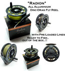 *HALF PRICE*  Radion Aluminium LA Fly Reel with Fly Lines Loaded on Reel Options