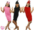 GIRLS FLAPPER DRESS AND HEADPIECE 1920'S CHILDS FANCY DRESS CHARLESTON COSTUME