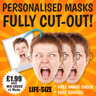 PERSONALISED CUSTOM FACE MASKS BIG A3 /A4 SIZE, BIRTHDAY PARTY STAG DO HEN NIGHT
