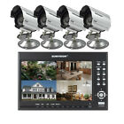 Hawkeye CCTV System Built-in Monitor With Cameras DVR Kit Home/Office Security