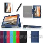 """Folio Stand Leather Cover Case Protector for Lenovo Yoga 10/ 10 HD+ 10.1"""" Tablet"""