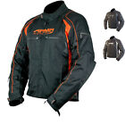 ARMR MOTO UKON CE ARMOURED MOTORCYCLE WATERPROOF ORANGE SPORTS RACE BIKE JACKET