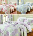 Vintage Patchwork Quilt Cover Floral Bedding Poly Cotton Bed Duvet Cover Set