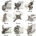 b402m65 Men Stainles Steel bead link Chain dangle Pendant Necklace Men's Jewelry