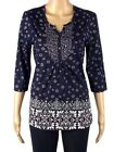 BHS LADIES NAVY FLORAL PRINT TUNIC TIE TOP BNWOT sizes 8-20 rp £20