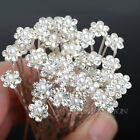 40PCS Wholesale Wedding Bridal Pearl Flower Crystal Hair Pins Clips Bridesmaid