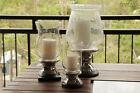 Brand New Rustic Ceramic and Glass Vintage Candle Holders Various Colour & Sizes