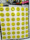 PACK OF 42 YELLOW SMILEY HAPPY FACE FASHION  BADGES 30mm GIFT PARTY BAG UKSELLER