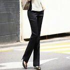 Korea Women Slim Casual Suit Pants Western-style High Waist OL Long Trousers hot