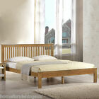 New - Harmony Beds Windsor Wooden Bed Frame - Oak or White Finish - 4ft6/5ft