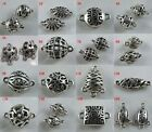12/20pcs Tibetan Silver Hollow Ball/Rectangle/Oval Connectors Jewelry DIY