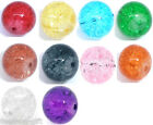 30 Crackle Glass Round Beads 12mm M0253