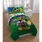 Kids Boys Mickey Mouse Comforter Set / Bed In A Bag
